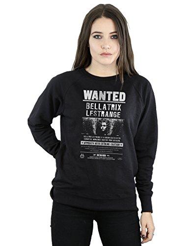 Harry Potter Femme Bellatrix Lestrange Wanted Sweat-Shirt Noir