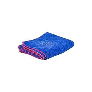 Microfibre large blue 90x60cm 3ft x 2ft velour fluffy wash car towel