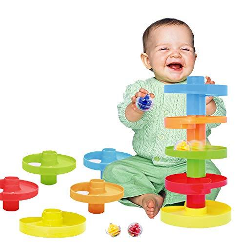 WEofferwhatYOUwant 2 Piste con Palline Sonore, Colorate. Gioco Montessori Educativo per la Prima Infanzia. Bambini 9 Mesi, 1 Anno e 2, 3 Anni