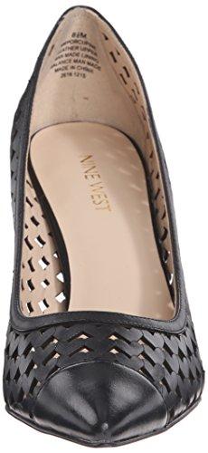 Nove pompa Vestito di pelle Porcupine occidentale Black Leather