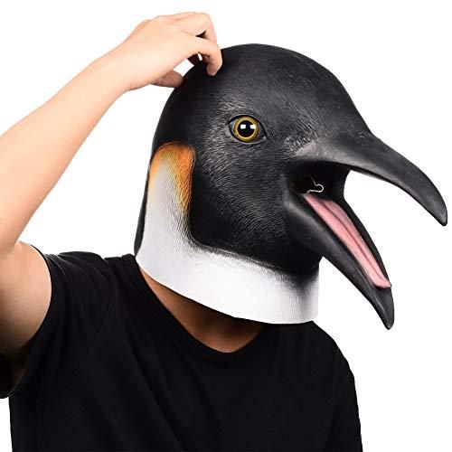 Finalshow Pinguin Maske Latex Tiermaske Kopf Kostüm für Halloween Weihnachten Party Dekoration Masken