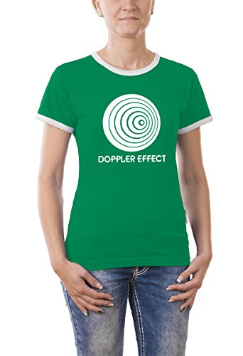 Touchlines Damen The Big Bang Theory - Doppler Effect Girlie Ringer T-Shirt, kelly green, XL, B9214-Kelly Green-XL, (Green Ringer Kelly)