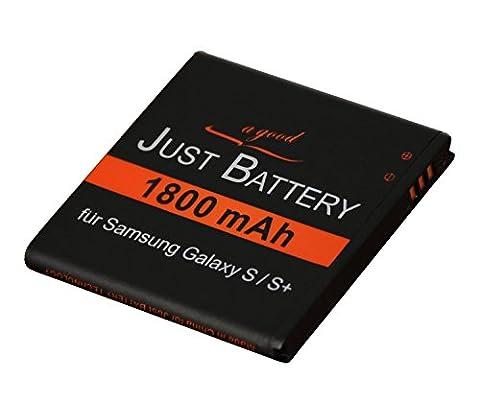 original JuBaTec Akku für Samsung Galaxy S Plus GT-i9001 mit 1800 mAh ersetzt EB-575152VU