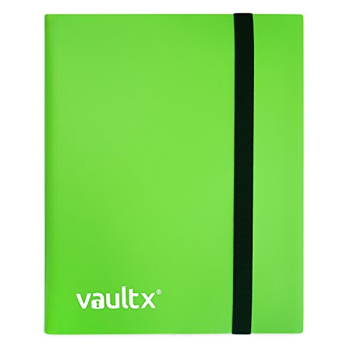 Vault X ® Heftmappe - 4 Fächer Sammelkarten Trading Cards Mappe - 160 Fächer mit Seitenöffnung für Spielkarten zum sammeln und tauschen -