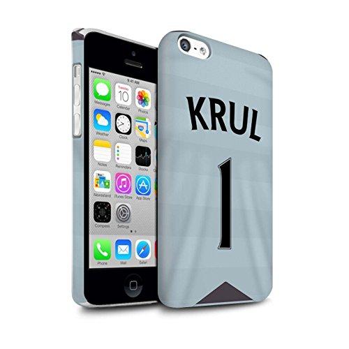 Offiziell Newcastle United FC Hülle / Matte Snap-On Case für Apple iPhone 5C / Pack 29pcs Muster / NUFC Trikot Away 15/16 Kollektion Krul