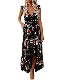 16d86d418 Amazon.es  Vestido Rojo Asimetrico - Mujer  Ropa