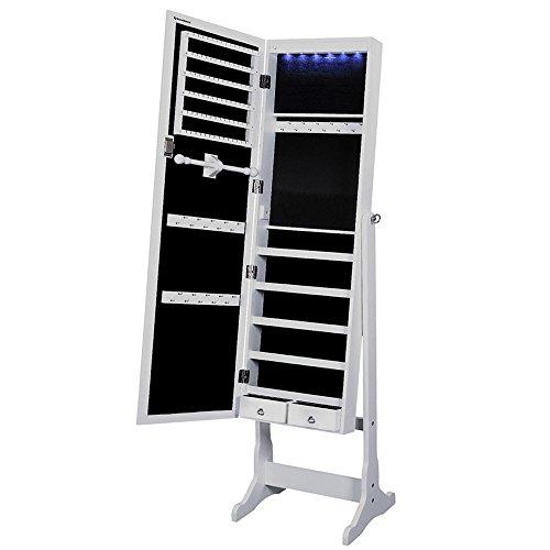 Songmics-Armario-de-Pie-con-Espejo-para-Joyas-Joyero-de-madera-cerradura-Iluminacin-LED-JBC94W