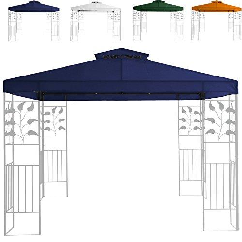 Miganeo Ersatzdach 3x3 m Partyzelt Gazebo Pavillion Dach Pavillon Pavilliondach Weiss, blau, grün, orange (blau)