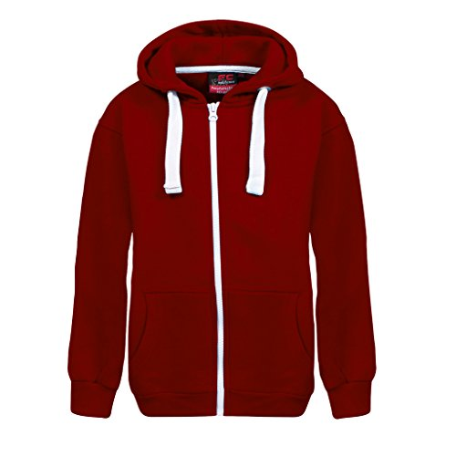 Fashion Oasis New in Unisex Kids Girls Boys Plain Fleece Zip-up Hoodie Hoody Sweatshirt Top Ages 1-13 Available in Black, Charcoal, Purple, Navy, Hot Pink, Royal Blue and Wine