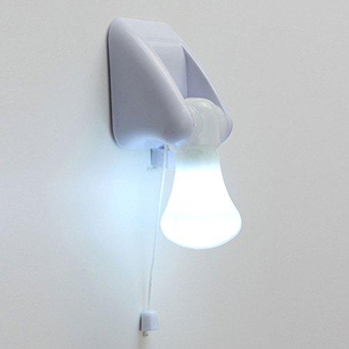 Uonlytech LED Cabinet Lamp, Portable Self Adhesive Wire Led Cabinet Bulb, LED Wall Mount Light (2Pcs)