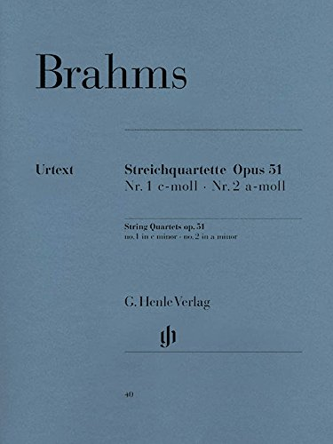 Quatuors cordes Opus 51/1-2 do mineur -la mineur --- Matériel