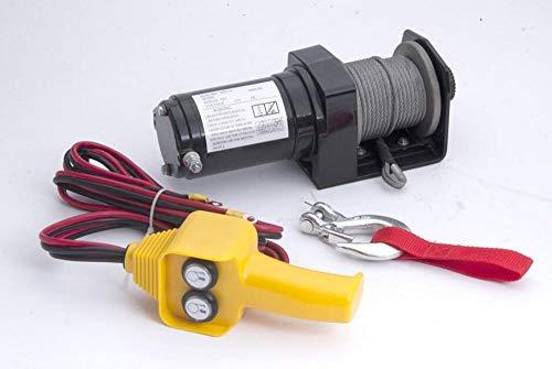Awsgtdrtg 2000lb 12V Portable treuil électrique Voiture Camion Auto Barge remorque Outil à Main extracteur câble d'acier 0.9t
