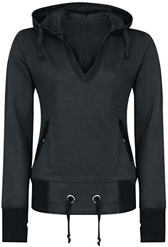 Forplay Patched Hoodie Felpa donna nero XL