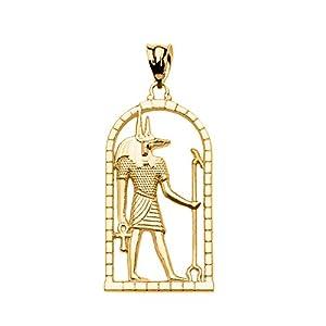 10 Karat Gelbgold Ägyptisch Anubis Damen Anhänger