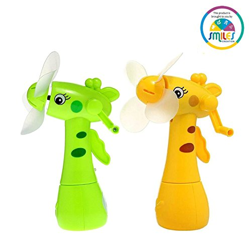 Smiles Creation Cute Eco Friendly Hand Driven Mist Spray Fan