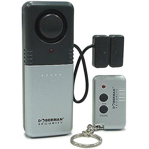 Alarma casa, WER Alarma casa magnética con control remoto sensor Reed alarma impermeable antiroba