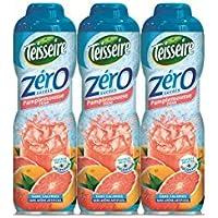 Pack de 3 sirops Teisseire 0% de sucre pamplemousse rose - 3 x 60 cl
