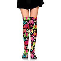 suzhouxiu Colorful Elephant Parade Womens Knee High Socks Long Socks Sport Socks Thin for Running,Medical,Athletic... preisvergleich bei billige-tabletten.eu