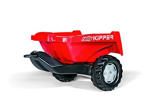 Rolly Toys Anhänger Rolly Toys 128815 Anhänger Kipper 2, Einachsenhänger mit Kippfunktion (Alter 2,5 – 10 Jahre; Farbe: Rot)
