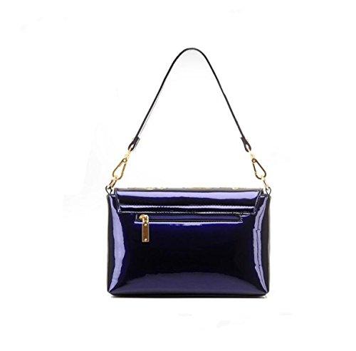 Dame-Schulterbeutel-Diagonalpaketbeutel-Handtaschenstickerei-Pailletten Beiläufiger Kleiner Quadratischer Beutel Blue
