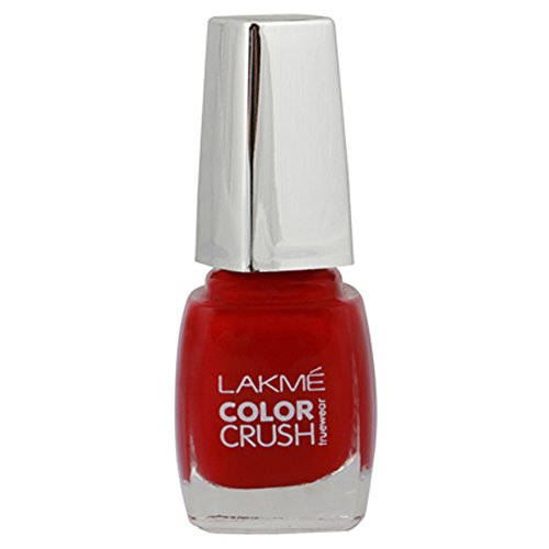 Lakme True Wear Color Crush Nail Color, Reds 25, 9ml
