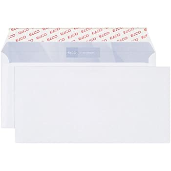 PAPYRUS Briefkuvert DIN lang mit Fenster weiß Haftverschluss 500 Stück