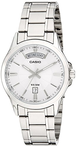 41LZby9it0L - Casio Enticer MTP 1381D 7AVDF A841 Silver Mens watch