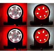4 X LED 12 U0026 24 V Rot Weiß Seitenumrandungsmarkierung 12SMD LEDs Beleuchtung  Chassis Anhänger LKW