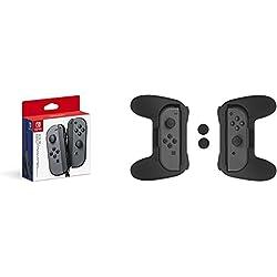 Nintendo Switch - Joy-Con Grigi + Kit di Impuganture Joy-Con (Grigio) AmazonBasics