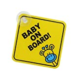 Fliyeong Premium-Qualität Baby an Bord Auto Warnung Sicherheit Saugnapf Aufkleber wasserdichte Anschlagtafel - XP01