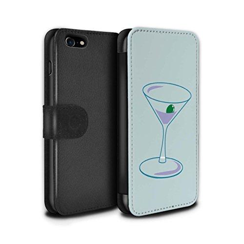 Stuff4 Coque/Etui/Housse Cuir PU Case/Cover pour Apple iPhone 5C / Ombre Bois Design / Mode Sarcelle Collection Verre Martini/Alcool