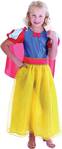 Schnee-Mädchen - Kinder- Kostüm - Small - 110cm bis (Kostüm Schneewittchen Großbritannien Kinder)