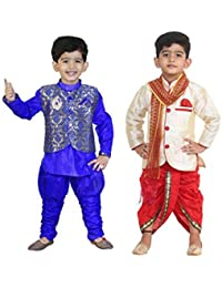 DIGIMART Kid's Multicolor Festive Sherwani with Modi Jacket for Boys Combo (BLUETDK001_$P)