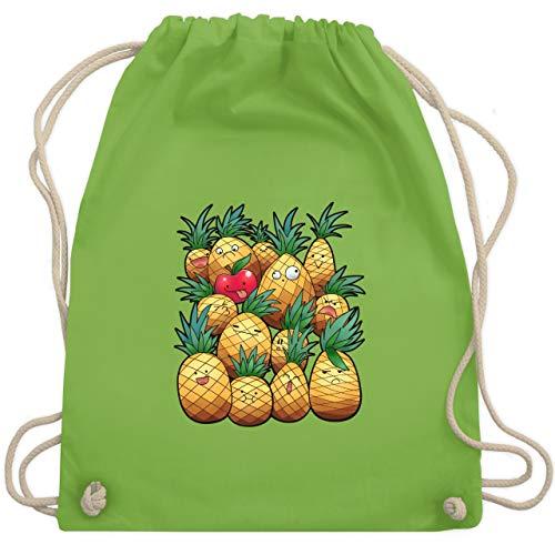 Comic Shirts - Süße Ananas Party - Unisize - Hellgrün - WM110 - Turnbeutel & Gym Bag (Anime Outfit Ideen)