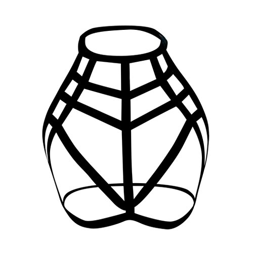 YunYoud Damen Unterwäsche Hohl Strappy BH Elastizität Bandage Büstenhalter Einfarbig Reizvoller Mesh Lingerie Lose Beiläufig Tanktops (L, Schwarz) (Bügel-bh Mesh Lace)