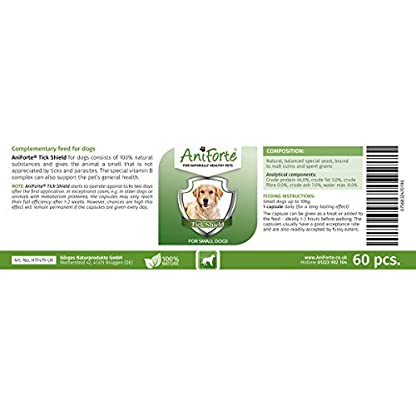 AniForte Tick Shield Tablets Dogs 60pcs - Natural Tick & Flea Treatment for Small Dogs, Easy to Use Tick Protection… 3