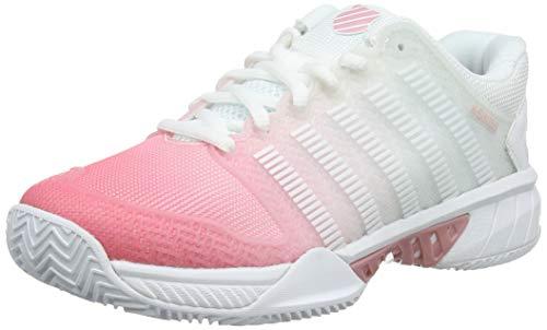 ab11a18e K-Swiss Performance Women's Hypercourt Express Hb Tennis Shoes, White/Pink  Lemonade/