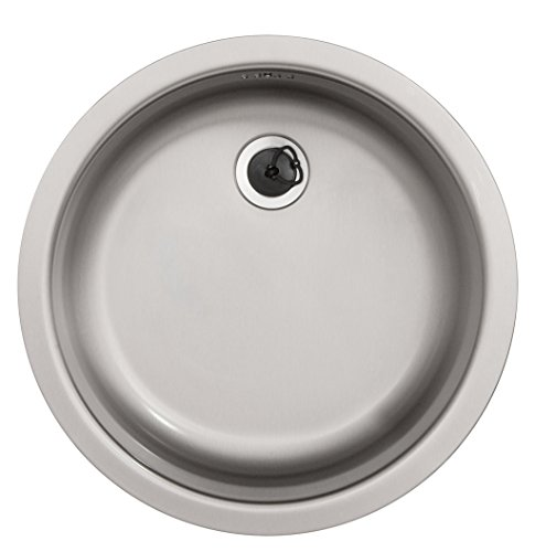 Rieber Einbauspüle E 39, Edelstahl, Küchenspüle MADE IN GERMANY, Durchmesser 451 mm, Spülbecken, glatt, langlebig und rostfrei