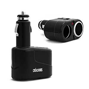 Celicious Twin Double Car Cigarette Lighter Socket Charger Adaptor Multiple Splitter 12v