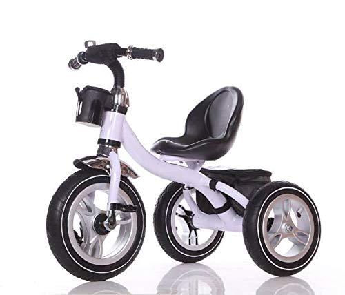 Little Bambino Tricycle pour Enfants âgés de 3 à 6 Ans | Roues gonflables en Caoutchouc | Porte-Bouteille | Assemblage Facile en 10 Minutes | Hauteur du siège réglable (Blanc)