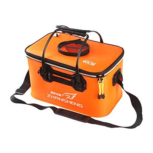 Breeezie tragbare Angeltasche Eva Faltbare lebende Fischbox Wasserbehälter Fischwassertank für unterwegs