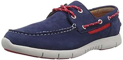 Sebago Kinsley Two Eye, Chaussures bateau homme, Bleu (Navy), 48