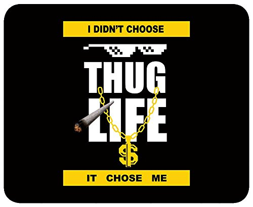 Thug Life Mousepad specifically Designed with Heavy weave cloth for Pixel Precise Tracking for all types of wired and wireless Optical Laser and Gaming Mouse from brands like Razer , Logitech B170 B100 M235, HP X1000, DELL MS111 WM123 , Dragon War, IBALL, Zebronics  available at amazon for Rs.199