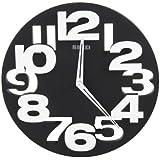 BestOfferBuy Original Reloj de Pared Art Decor Redondo Analógico Negro Números Recortados en 3D