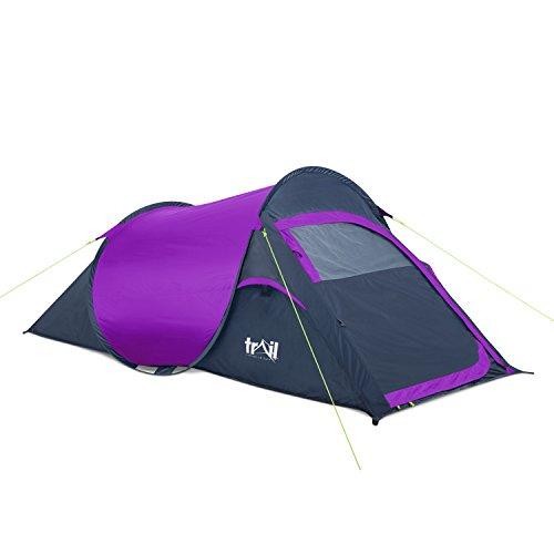 Trail Pop-Up Tent - PurpleCharcoal