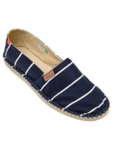 Havaianas HAV Origine Stripes Navy Blue, Sandalias con cuña Tipo Alpargatas Unisex Adulto, Rosa Leaf...