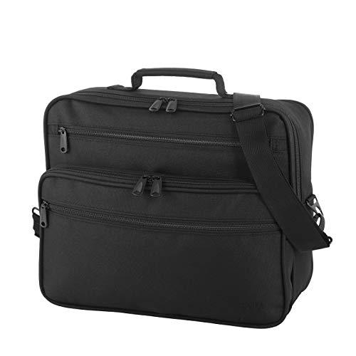 Rada Umhängetasche Flugumhänger | Business Arbeits Tasche | Messenger Bag im Querformat auf Trolley aufsteckbar Unisex