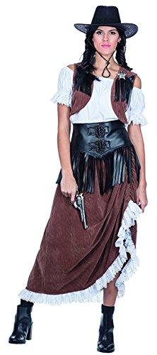 Womens Haloween Kostüm - Western Lady Cowgirl Kostüm Saloon für