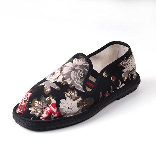 LvYuan Unisex chinesische traditionelle Tuchschuhe / beiläufige Retro Atmen Sie Stickereischuhe / Kung Fu Schuhe / Kampfkünste / Beleg-auf Schuhe 1#