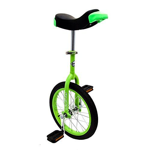 Indy Trainer Kids \'Einrad grün, Stabiler Stahlrahmen, 1Speed Abgerundete Pedale aus Kunststoff ergonomisch geformte Sattel